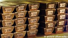 Numbered gold bars stored by the German Central Bank +++(c) dpa - Bildfunk+++