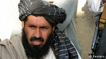 Pro-Taliban Pakistani tribal leader Maulvi Nazir Wazir, also known as Mullah Nazir, speaks during a news conference in Wana, the main town of the South Waziristan region bordering Afghanistan