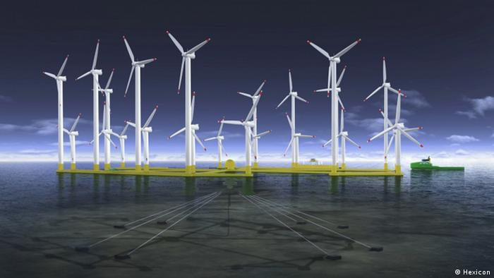Hexicon plans a huge floating wind park (Photo: Hexicon)