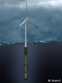 The Hywind floating wind turbine (Photo: Hywind)