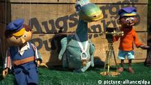 Die Figuren Lukas, Urmel und Jim Knopf aus der Augsburger Puppenkiste