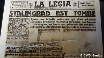 Французская газета, первая полоса которой посвящена Сталинградской битве