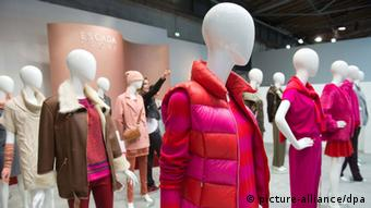 Visitors look at the Label Escada Sport during the Premium trade fair in Berlin