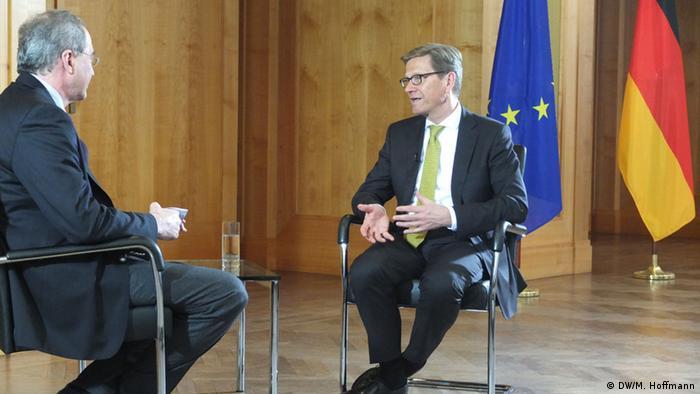 Guido Westerwell im Interview mit der Deutschen Welle