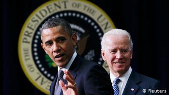 President Barack Obama stands beside Joe Biden REUTERS/Jason Reed