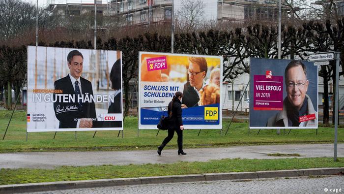 Предвыборные плакаты на улицах в ФРГ