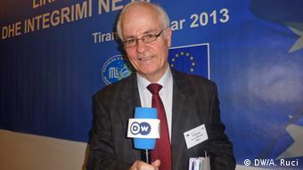 Aidan White, Director of the Network for the Ethical Journalism, based in Brussels. Author: Ani Ruci, shot on January 16th, Tirana Ani Ruci DW correspondent.