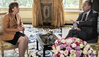 Angela Merkel bei Chirac