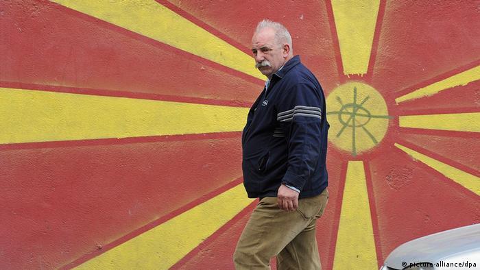 Mazedonien Flagge Grafiti (picture-alliance/dpa)