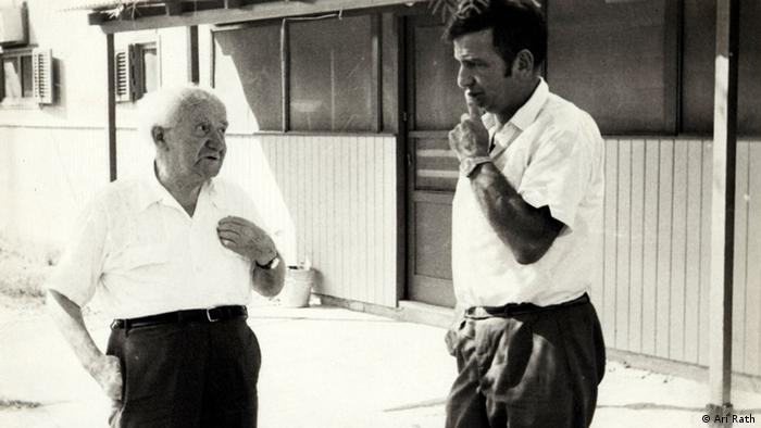 Ari Rath ist im Wahlkampf 1965 persönlicher Sekretär von David Ben Gurion (Rechte: Ari Rath)