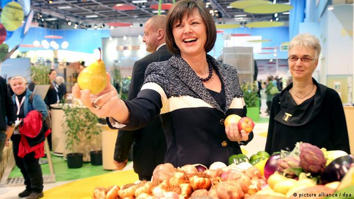 German Agriculture Minister Ilse Aigner visiting the Green Week fairgrounds in Berlin
