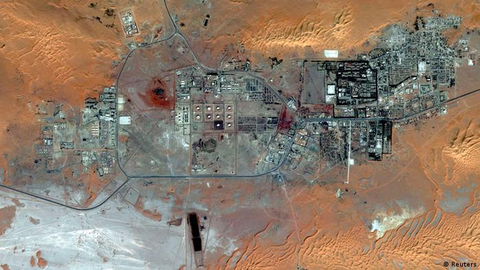 Aerial photo of the Amenas Gas Field in Algeria is seen in this October 8, 2012 handout image courtesy of DigitalGlobe. REUTERS/DigitalGlobe