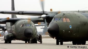 Two German transport planes. (Photo by Jan Pitman/Getty Images)