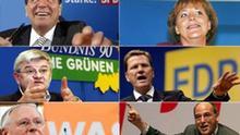 Collage Parteien, Bundestagswahl