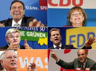 Partidos alemães trocam de papel na campanha