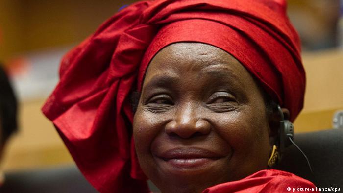 Die Kommissionschefin der Afrikanischen Union (AU), Nkosazana Dlamini-Zuma bei einem Gipfel der AU in Addis Abeba am 16.07.2012. (c) dpa - Bildfunk+++ pixel