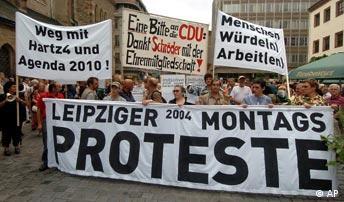 Montagsdemonstration in Leipzig 2004