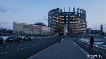 Auf dem Bild: Das Gebäude des EU-Parlaments in Straßburg, Frankreich. 16.1.2013. Rechte: Philipp Böll / DW