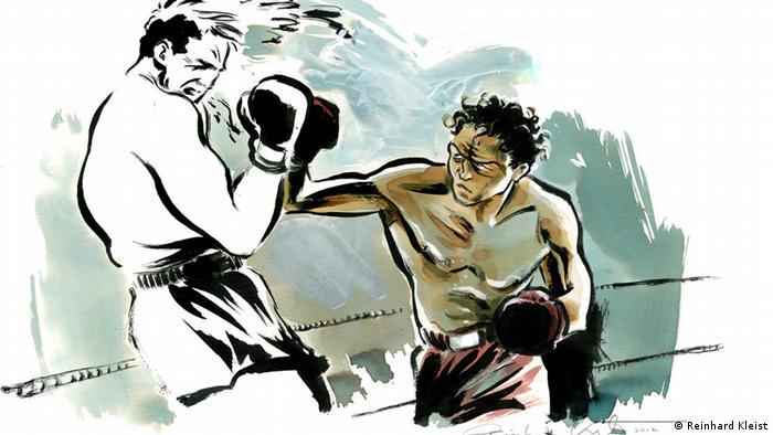Der Boxer, Kunstwerk von Reinhard Kleist (2012); Copyright: Reinhard Kleist***via Jane Paulick