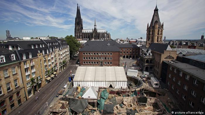 An archaeological excavation in of Cologne's medieval Jewish quarter