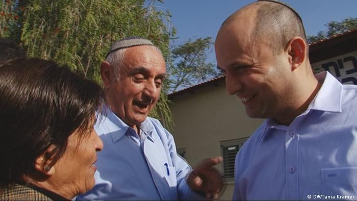 Naftali Bennett, in Rosh HaAyin Screenshot DW TV