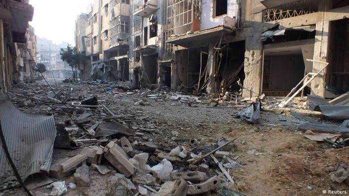 Häuserruinen im syrischen Homs (Foto: Reuters)