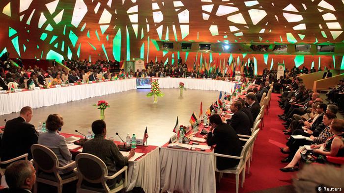 Das ECOWAS-Gipfeltreffen in einem Hotelsaal in Abidjan (Foto: Reuters)