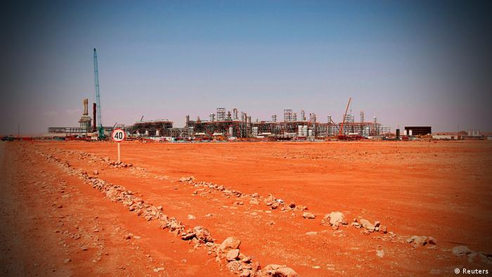 File photo of the gas field in Amenas, Algeria