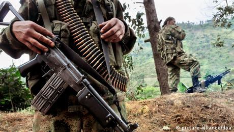 FARC members on patrol