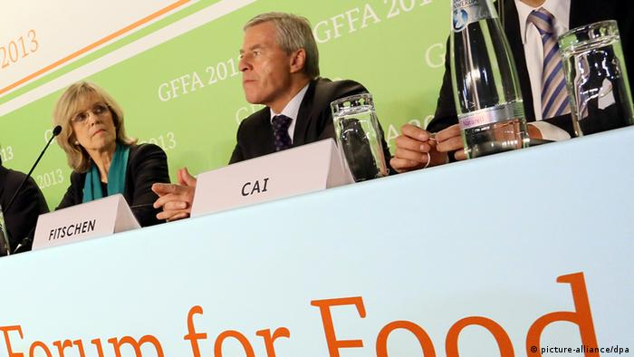 The press conference of this year's Global Forum for Food and Agriculture (GFFA) in Berlin. Foto: Stephanie Pilick/dpa