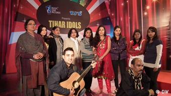 Members of Tihar idols along with the production team in Tihar jail ahead of their ambitious album launch (Photo: Murali Krishnan)