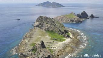 Aerial view of the Senkaku Islands (Photo: Kyodo/MAXPPP)