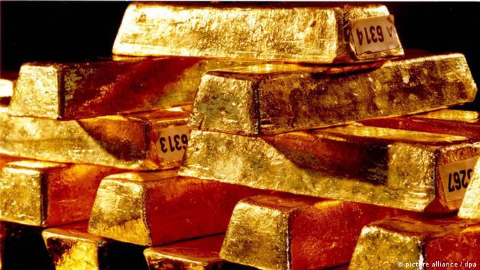 Goldbarren der Deutschen Bundesbank (picture alliance / dpa)
