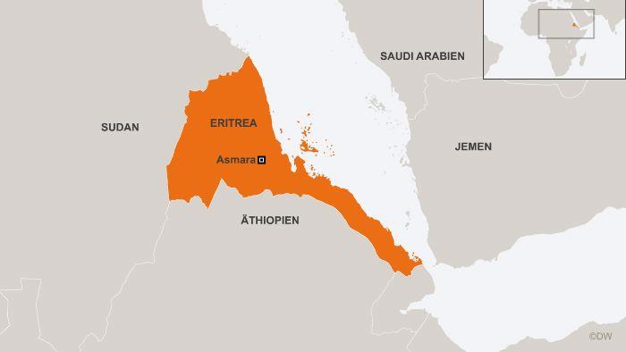 21.01.2013 Karte Eritrea Asmara deu