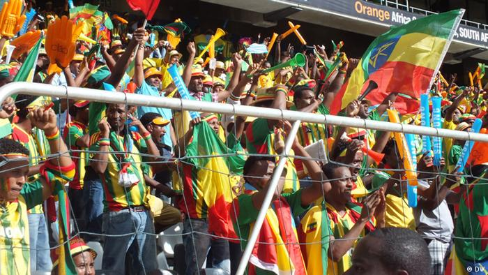 Tittle: 21 01 2013 Africa cup Ethiopian Supporters in Mbombela, Nelspruit Autor: DW/Haimanot Turuneh