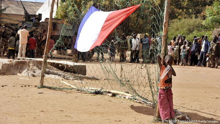 A French flag in Mali