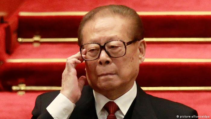 Chinesischer Präsident Jiang Zemin in Beijing