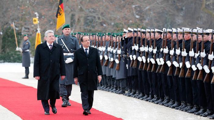Президенты ФРГ и Франции Йоахим Гаук и Франсуа Олланд
