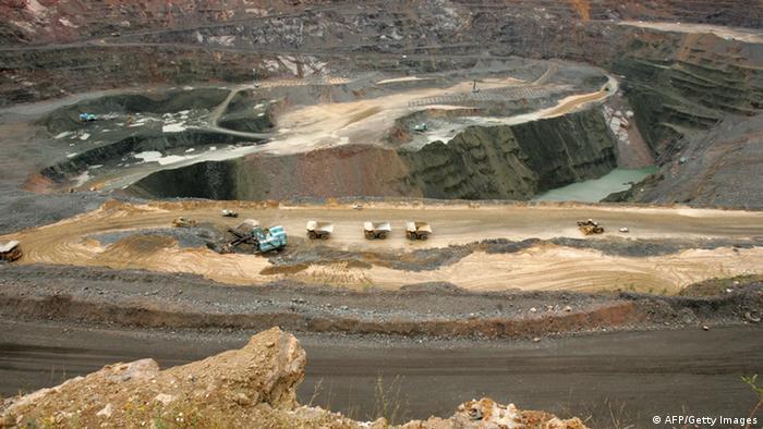 Diamanten-Mine in Botswana. Foto: ALEXANDER JOE/AFP/Getty Images