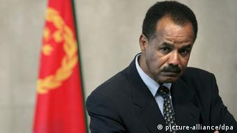 President of Eritrea Isaias Afewerki attends a news conference with European Commissioner for Development and Humanitarian Aid Louis Michel (not pictured) after their meeting at the European Commission headquarter in Brussels, Belgium, 04 May 2007. EPA/OLIVIER HOSLET +++(c) dpa - Report+++