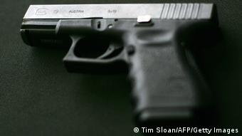 Centerville, UNITED STATES: A Glock 9MM pistol, which according to media reports is similar to one of the weapons used by 23-year-old South Korean student Cho Seung-Hui in the Virginia Tech massacre, is pictured 17 April 2007 in Centerville, Virginia. Cho Seung-Hui moved to the United States when he was just eight, but 15 years later his name is set to be permanently etched on the tragic roll call of US school and campus killings after he mowed down 32 people before turning his gun on himself. AFP PHOTO/Tim Sloan (Photo credit should read TIM SLOAN/AFP/Getty Images)