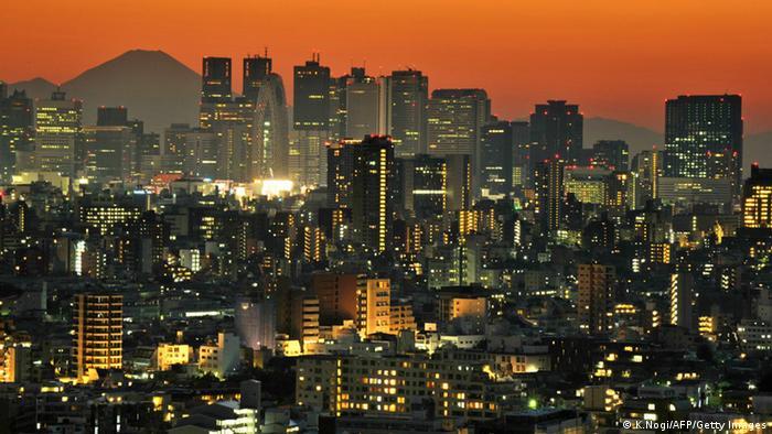 Tokio Skyline Sonnenuntergang