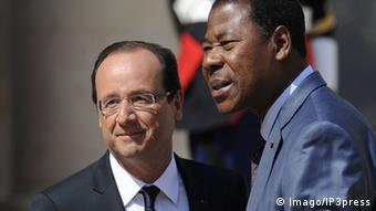 Boni Yayi mit Frankreichs Präsident Hollande im Mai 2012