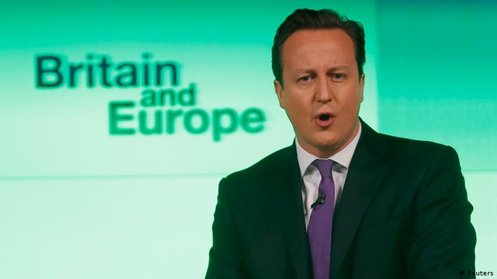 Britain's Prime Minister David Cameron delivers a speech on the European Union and Britain's role within it, in central London January 23, 2013. (Photo: REUTERS/Suzanne Plunkett)