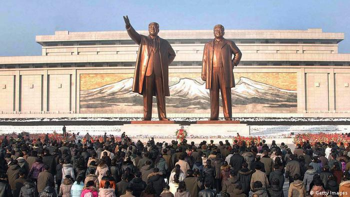 Statues of Kim Il-sung and Kim Jong-il in Pyongyang (KNS/AFP/Getty Images)