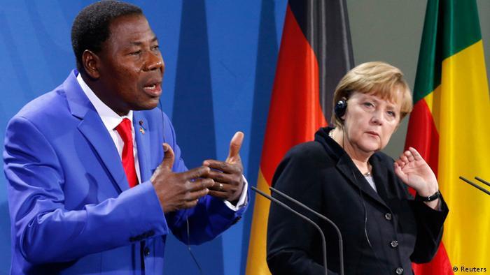 Benins Präsident Boni Yayi bei Kanzlerin Merkel (Reuters)