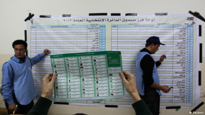 Officials count ballots after polls closed at a polling station in Amman January 23, 2013. (Photo: REUTERS/Muhammad Hammad)