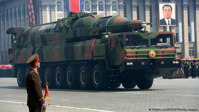 Nordkorea Missile Rakete bei Parade