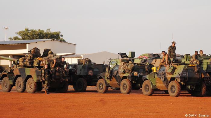 Французские солдаты в Бамако