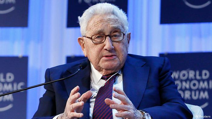 Henry Kissinger, chairman of Kissinger Associates, speaks during the annual meeting of the World Economic Forum (WEF) in Davos January 24, 2013. REUTERS/Pascal Lauener (SWITZERLAND - Tags: POLITICS BUSINESS)